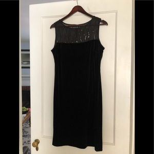 Donna Ricco Black Velvet Dress